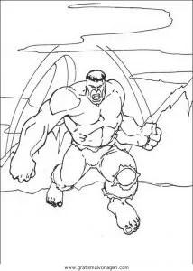 Hulk 44 gratis Malvorlage in Comic & Trickfilmfiguren