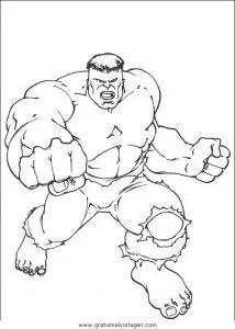 Hulk 48 gratis Malvorlage in Comic & Trickfilmfiguren