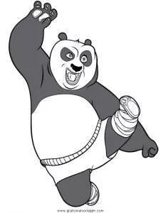 Kung fu panda 17 gratis Malvorlage in Comic