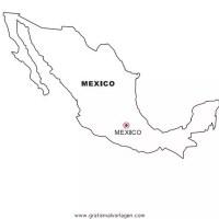 Mexiko gratis Malvorlage in Geografie, Landkarten   ausmalen
