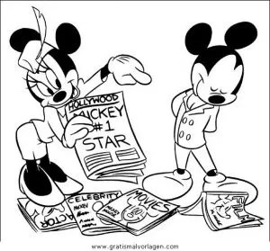 Minni maus 20 gratis Malvorlage in Comic