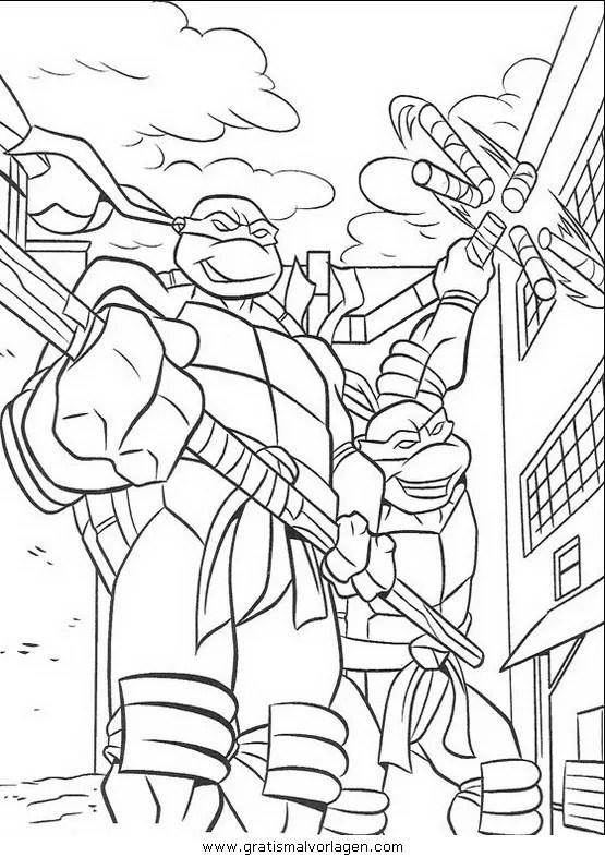Ninja turtles10 gratis Malvorlage in Comic
