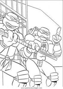 Ninja turtles15 gratis Malvorlage in Comic