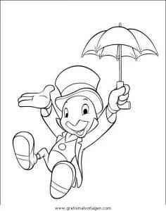 Pinocchio 07 gratis Malvorlage in Comic & Trickfilmfiguren