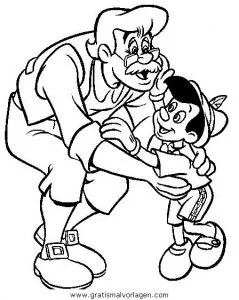Pinocchio 31 gratis Malvorlage in Comic & Trickfilmfiguren