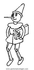 Pinocchio 40 gratis Malvorlage in Comic & Trickfilmfiguren