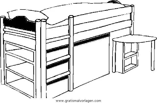 Hochbett gratis Malvorlage in Diverse Malvorlagen Möbel