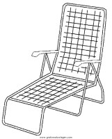 Liegestuhl gratis Malvorlage in Diverse Malvorlagen, Möbel ...