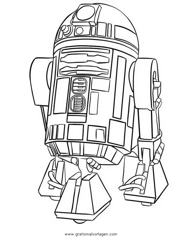 r2-d2 gratis Malvorlage in Science Fiction, Star Wars