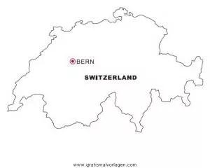 Malvorlage Schweiz