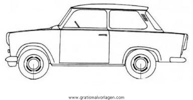 trabant p601c gratis Malvorlage in Autos, Transportmittel ...