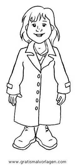 Mantel gratis Malvorlage in Diverse Malvorlagen Kleidung