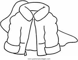 Mantel gratis Malvorlage in Diverse Malvorlagen, Kleidung ...