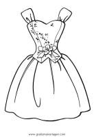 Kleid gratis Malvorlage in Diverse Malvorlagen, Kleidung ...