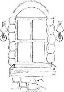 Fenster 2 gratis Malvorlage in Diverse Malvorlagen Garten