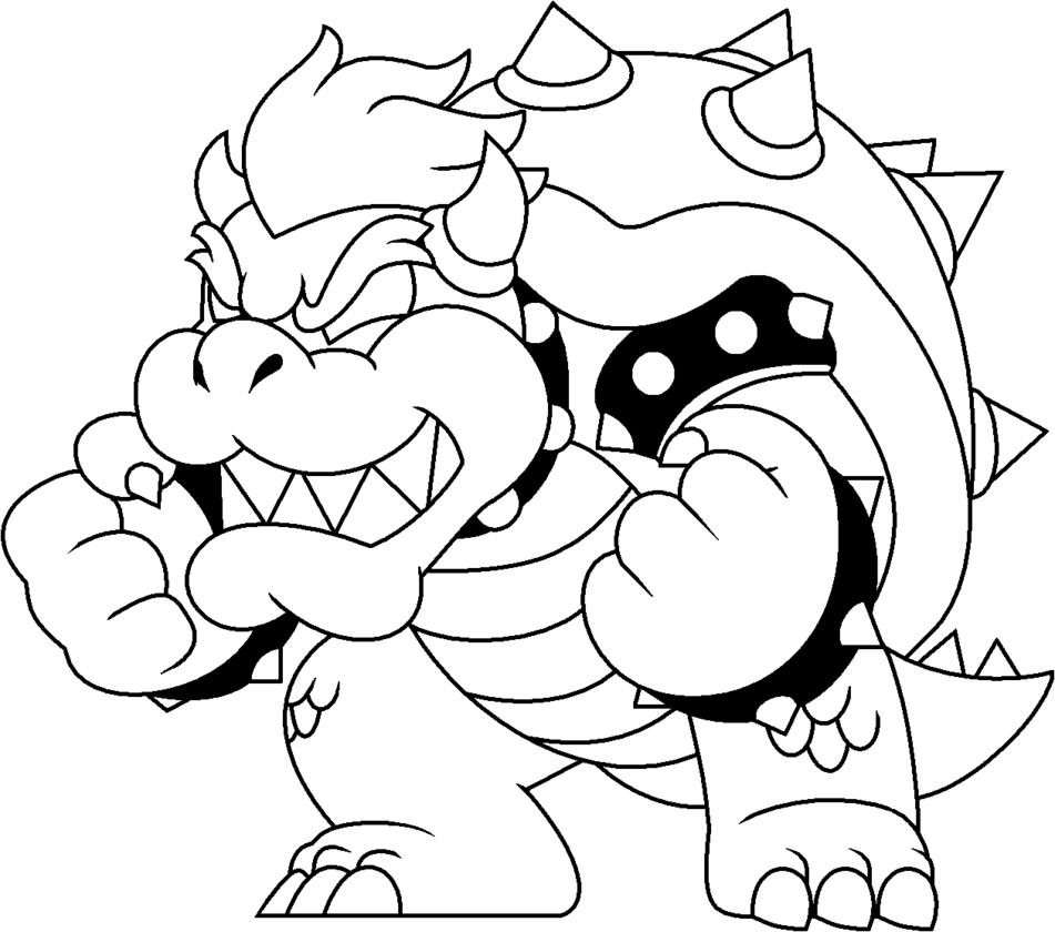 Dark Bowser Coloring Pages Sketch Coloring Page