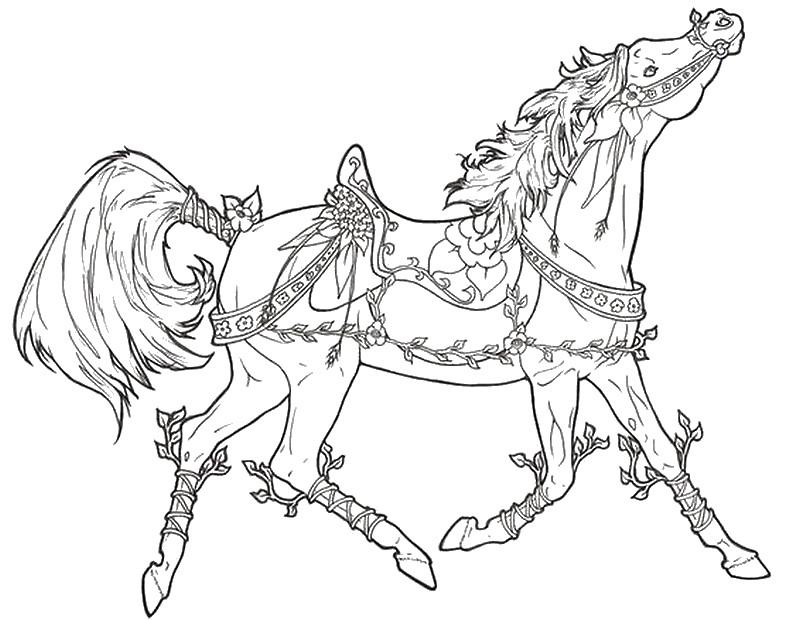 Dibujos de caballos para colorear e imprimir gratis