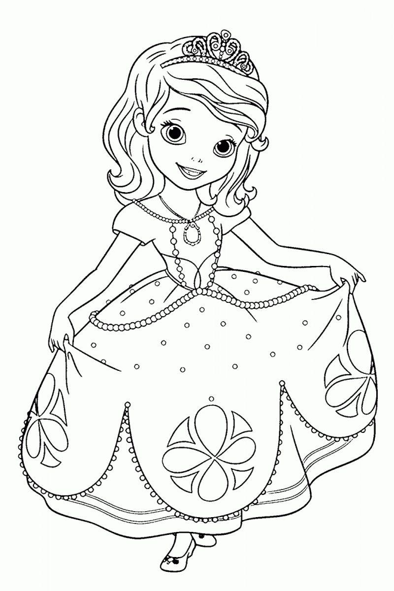 Dibujos De La Princesita Sofia Para Colorear E Imprimir