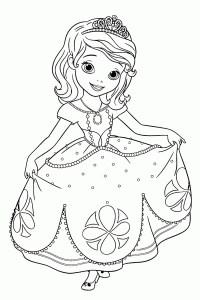Dibujos de La Princesa Sofia para colorear, dibujos disney