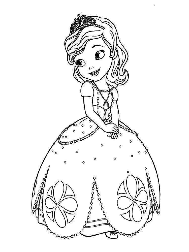 Dibujos Para Colorear Princesa Sofia
