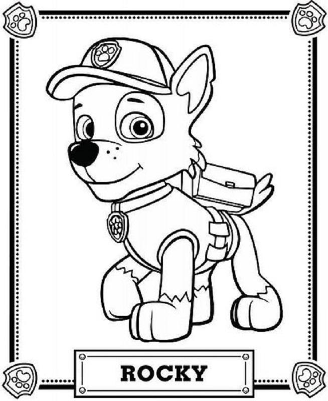 Dibujos para colorear e imprimir. Dibujos de La Patrulla Canina para colorear, Paw Patrol