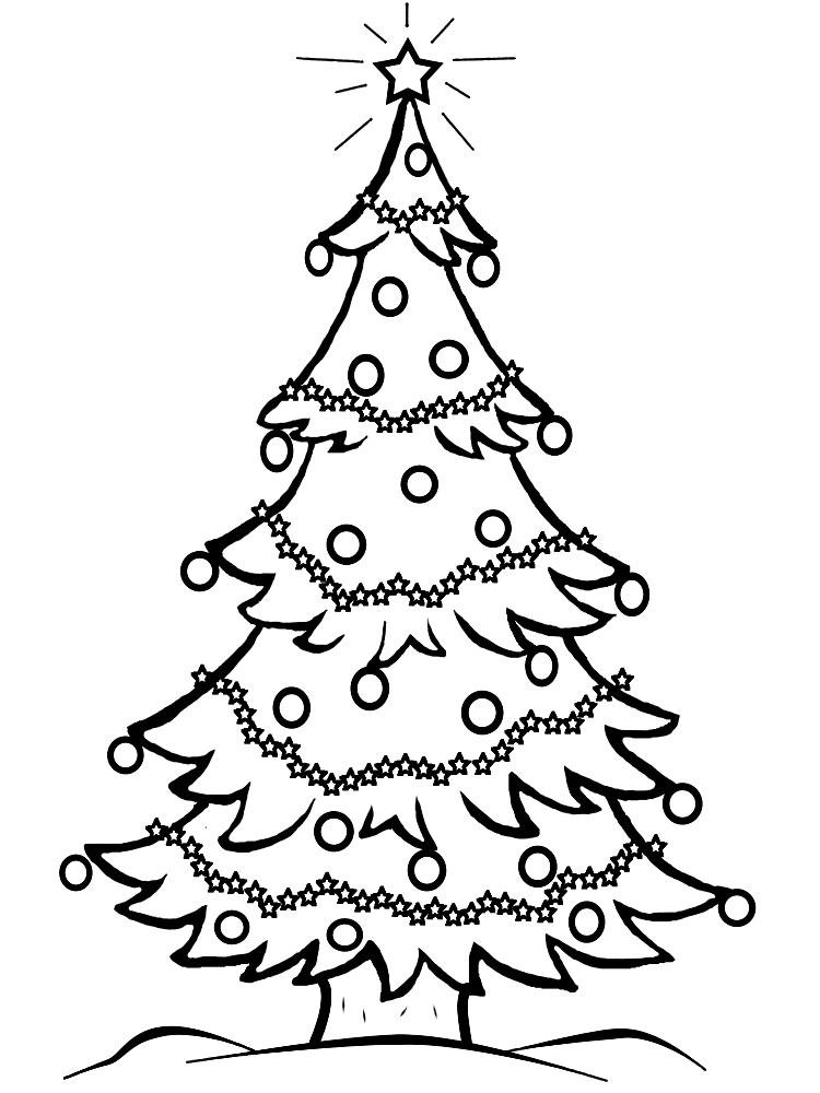 Dibujos de Árboles de Navidad para colorear e imprimir