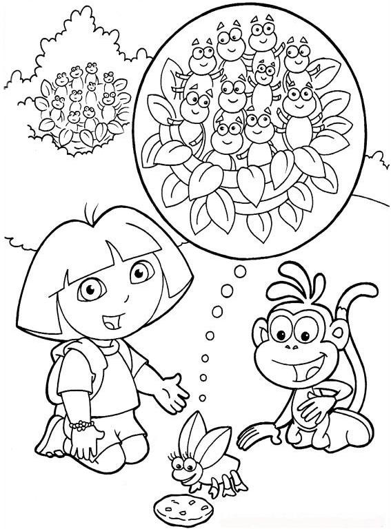 Dora Exploradora Para Colorear E Imprimir