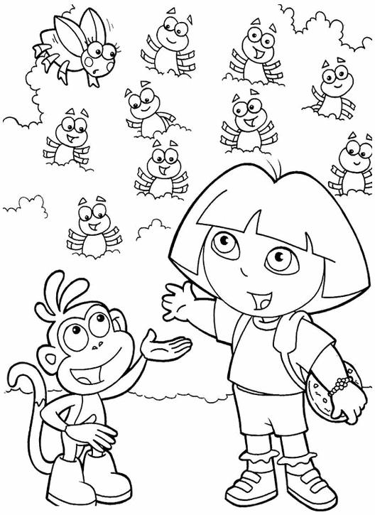 dibujos para imprimir de dora la exploradora y sus amigos