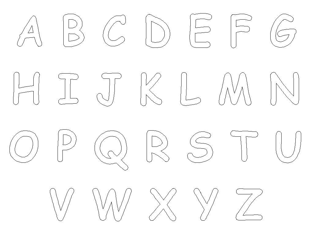 Dibujos de Letras del abecedario para colorear e imprimir