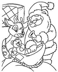 Dibujos de Pap Noel para colorear, dibujos de Santa Claus