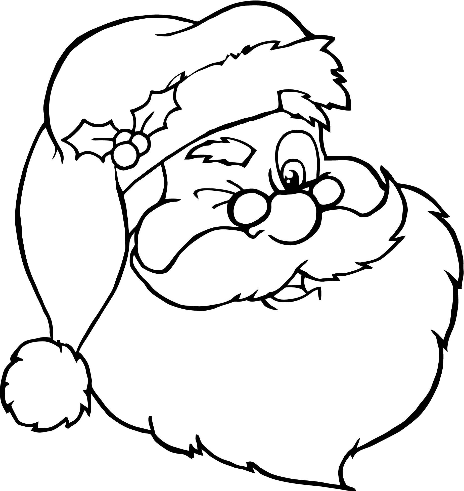 Dibujos De Papa Noel Para Colorear Dibujos De Santa Claus