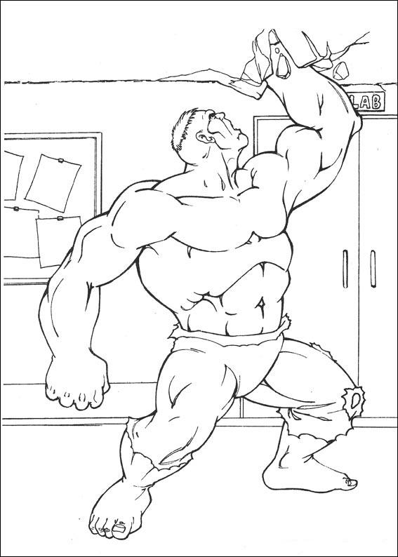 Preparados para colorear por niños y adultos. Dibujos de Hulk para colorear, pintar e imprimir gratis