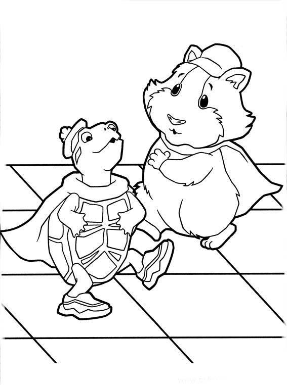 Dibujos de Las Mascotas Maravilla para colorear pintar e