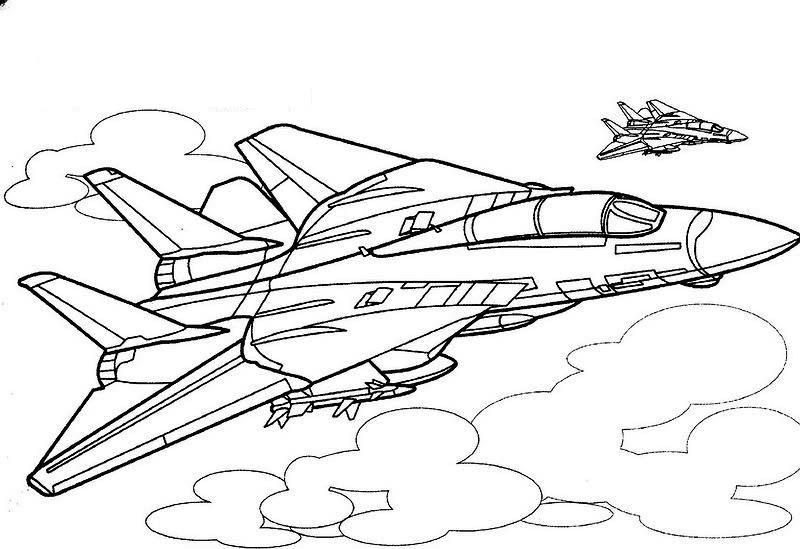 dibujos para imprimir y colorear aviones para colorear