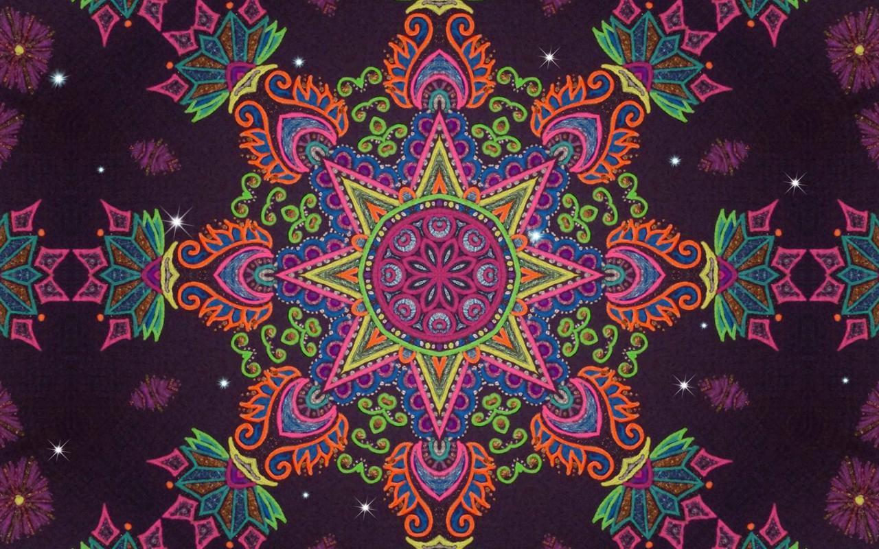 Falling Star Wallpaper Hd Im 225 Genes Con Mandalas De Colores