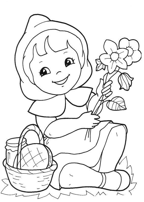 Dibujos Animados Para Colorear Caperucita Roja Para Colorear
