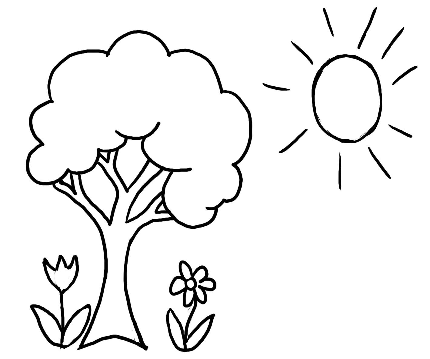 Dibujos de Áboles para Colorear e Imprimir Gratis