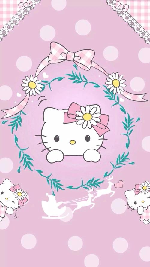 2017 Wallpaper Iphone Fondos De Pantalla De Hello Kitty Para Celular Wallpapers