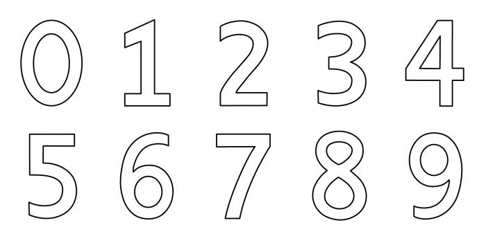 Dibujos de números para colorear e imprimir gratis