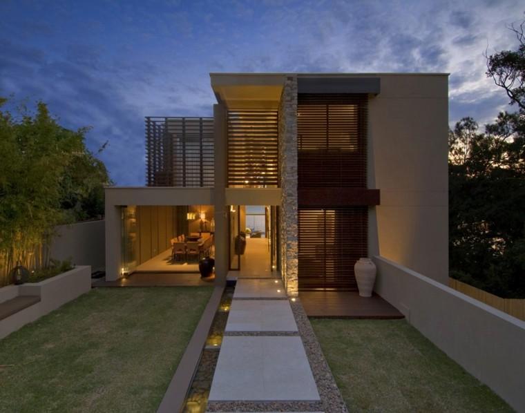 Fachadas de casas de Piedra modernas clsicas y minimalistas