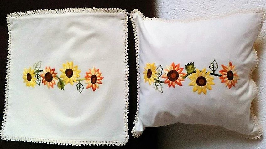 A Perfect Handmade Embroidery Design - Sunflower