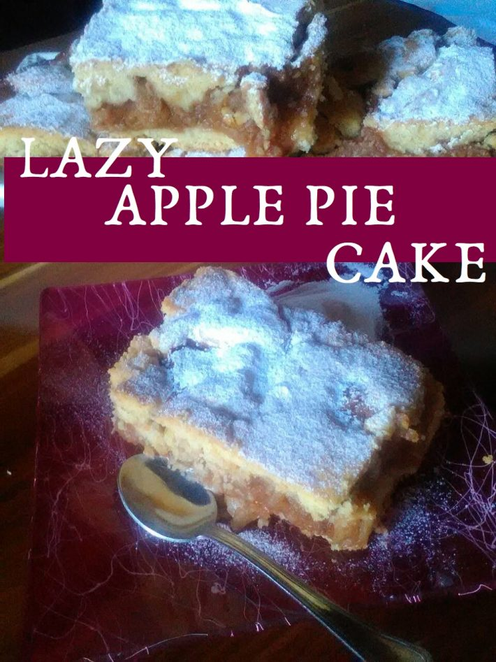 LAZY APPLE PIE CAKE