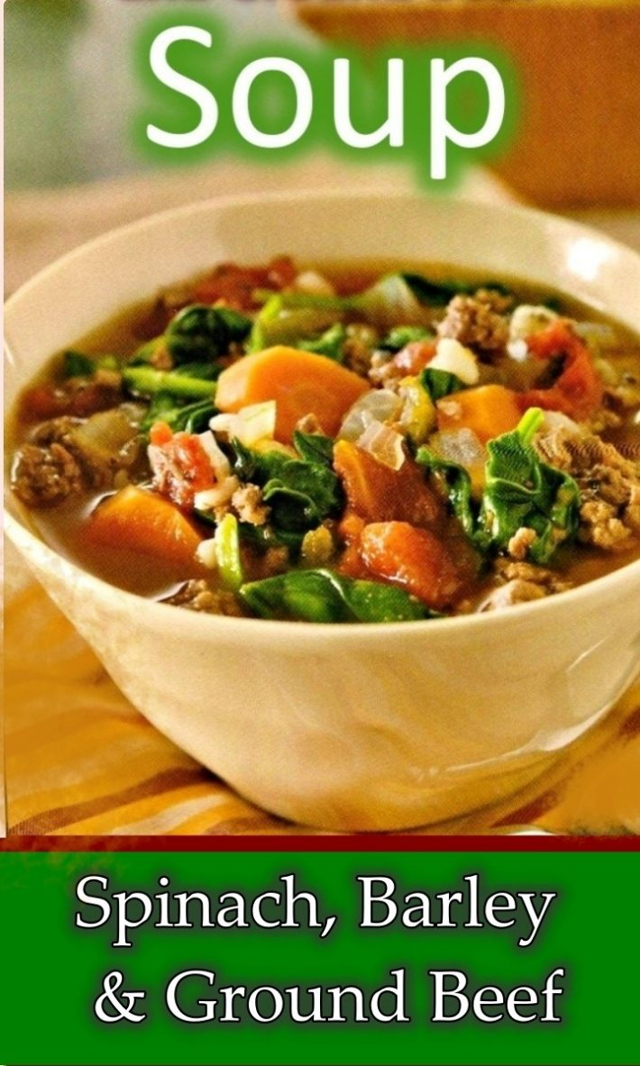 BARLEY AND GROUND BEEF SOUP