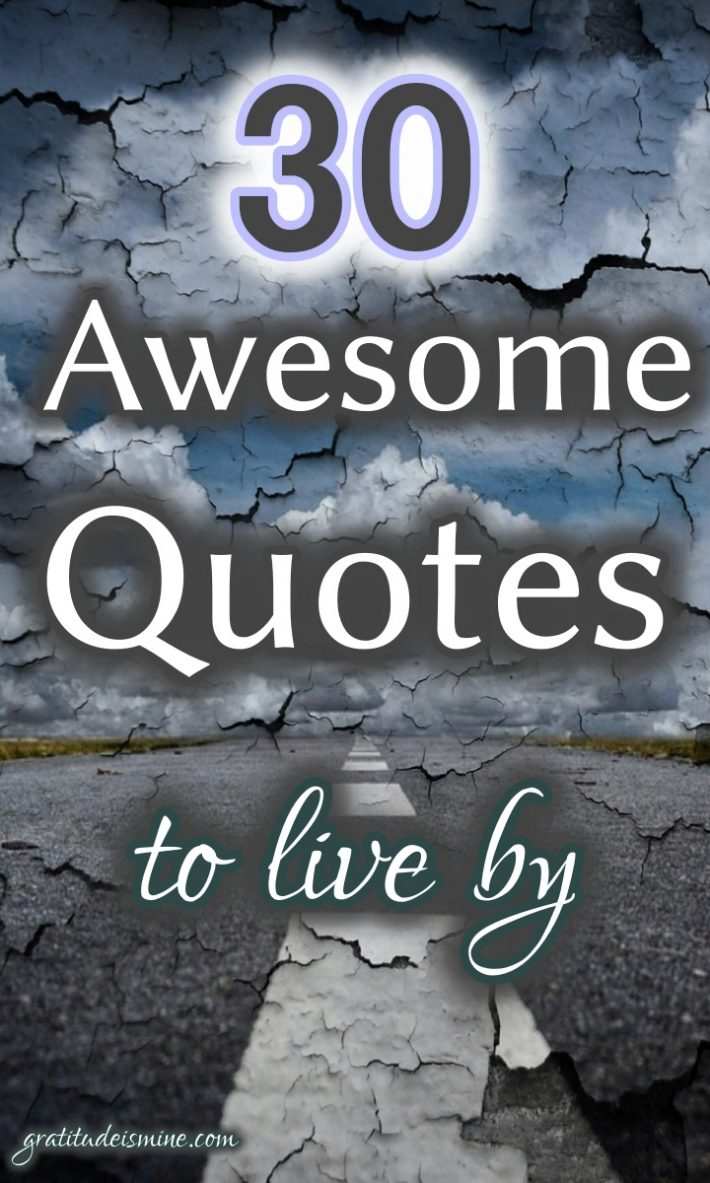 30 AWESOME QUOTES TO LIVE BY