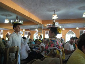 Incredible dancers at the roadstop buffet after visiting Chichen-Itza