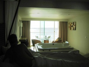 Our suite at sunrise