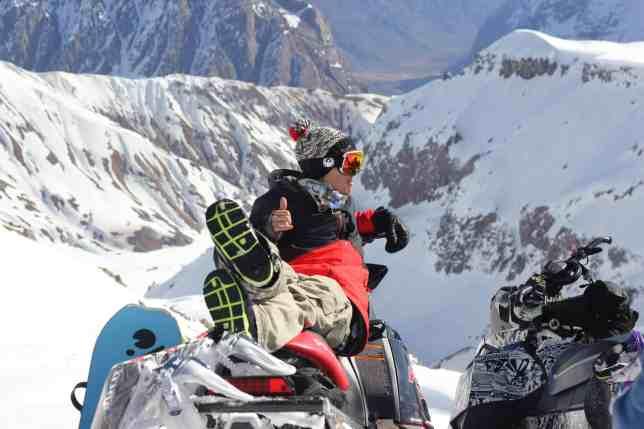 Gigi on sled