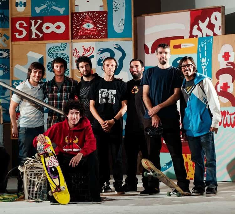 El equipo de GZ MAG junto al Butcher, el father y Fede González