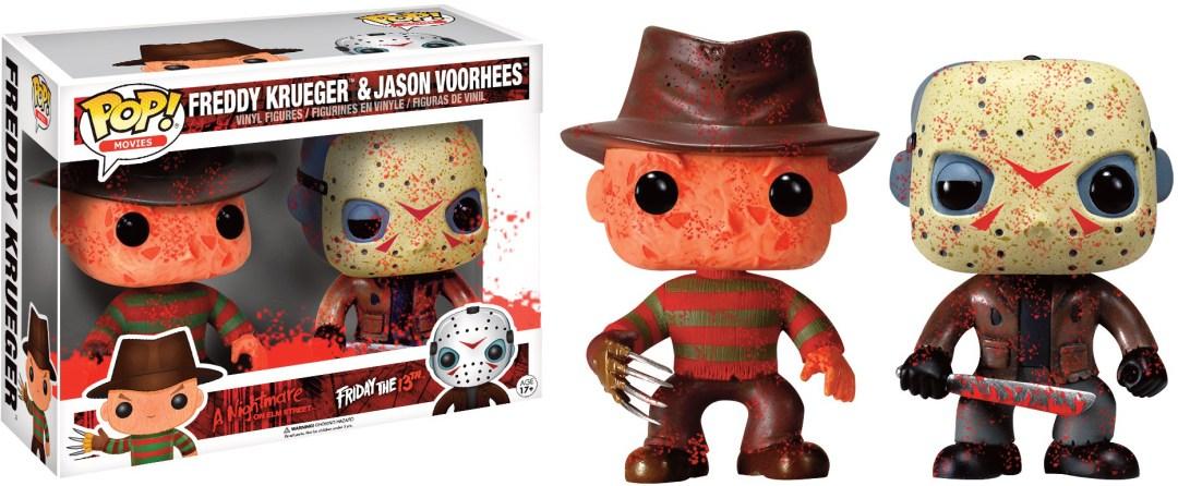 Funko Pop! Movies A Nightmare on Elm Street & Friday the 13th Freddy Krueger & Jason Voorhees [Bloody] 2-Pack