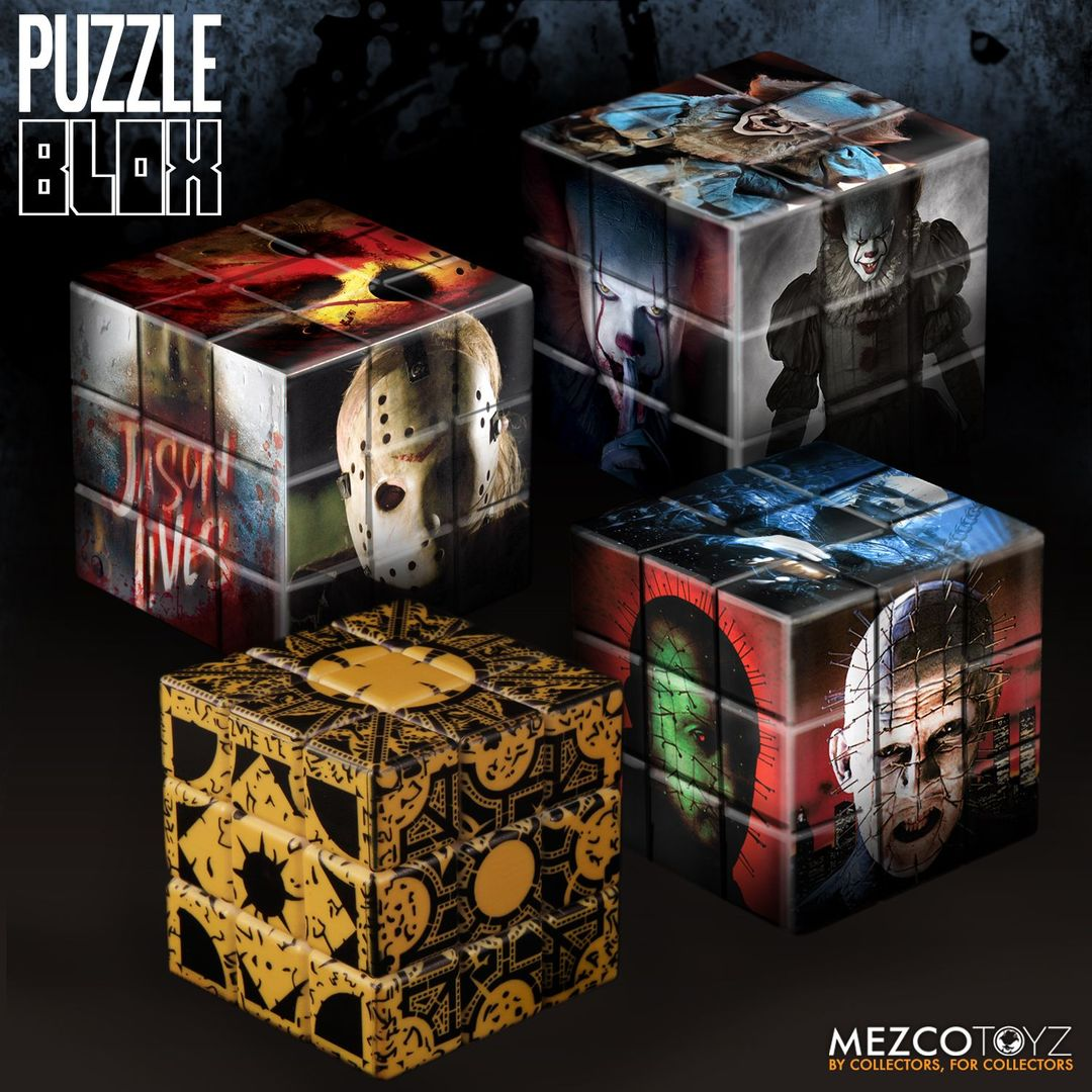 Mezco Toyz Jason Voorhees Friday The 13th 2009 3D Combination Puzzle Game Blox